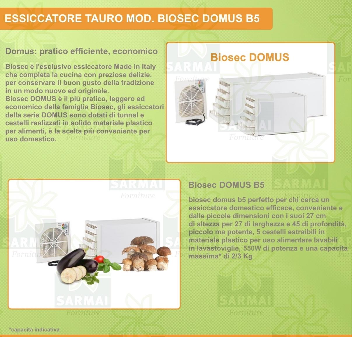 Essiccatore Tauro Domus Biosec B5