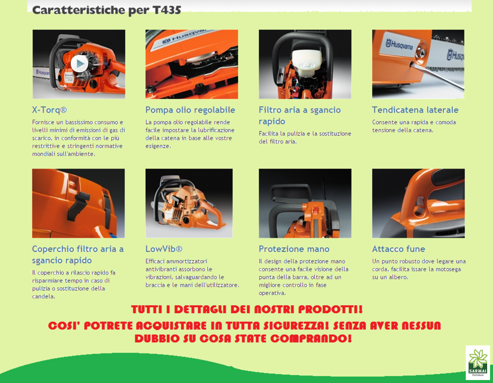 caratteristiche T435