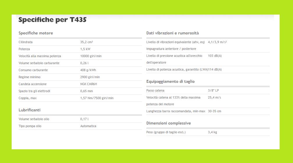 specifiche T435
