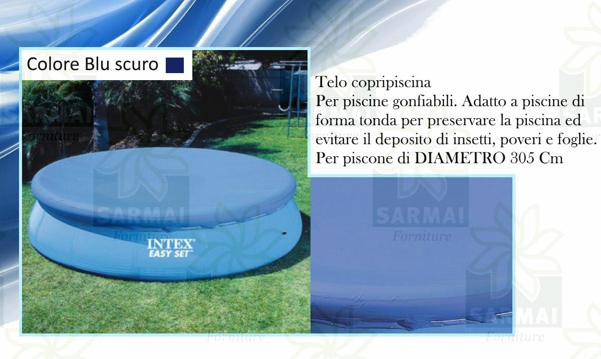 Intex copripiscina copri piscina telo copertura rotonda - Telo per piscina intex ...