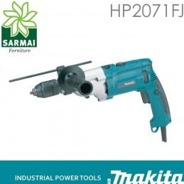 TRAPANO A PERCUSSIONE 2 VELOCITA' MAKITA HP2071FJ 1050W LED VALIGIA MAKPAC PRO