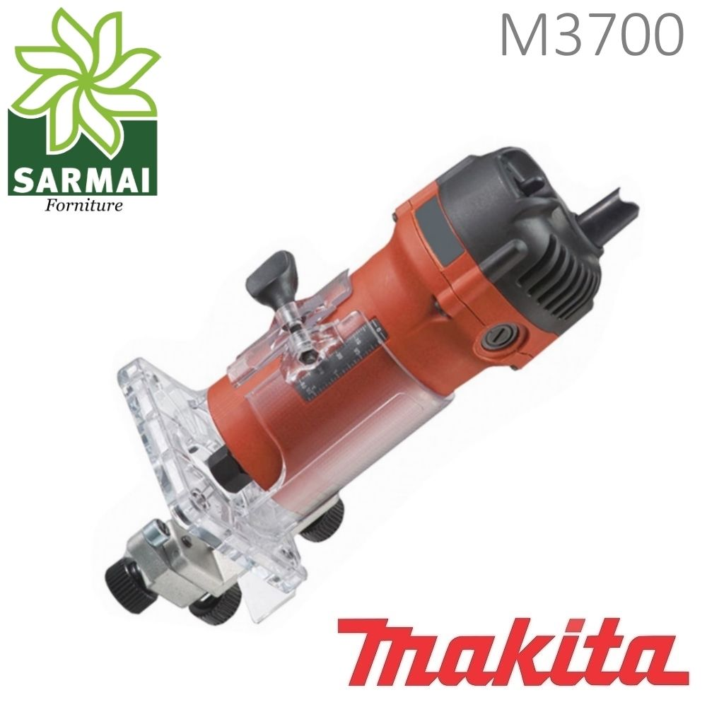 RIFILATORE MAKITA M3700 FRESA A MANO 570W 6 mm FRESATRICE PROFESSIONALE