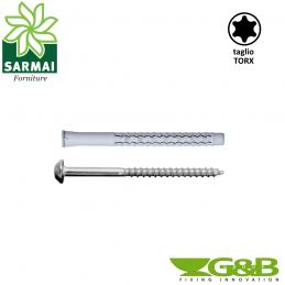 Tasselli G&B GX-L Nylon Ø 10 mm vite VAST ANTINTRUSIONE TORX T40
