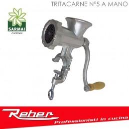 TRITACARNE N°5 REBER 8680 N MANUALE FISSAGGIO A BANCO CON MORSETTA