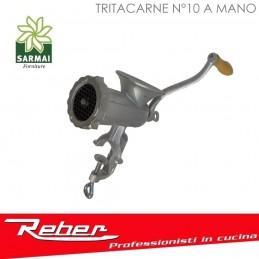 TRITACARNE N°10 REBER 8685 N MANUALE FISSAGGIO A BANCO CON MORSETTA
