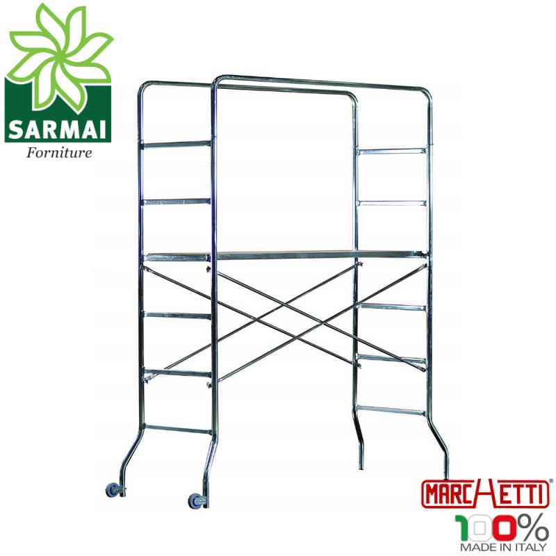 Trabattello in Acciaio zincato Marchetti Supertrio ponteggio mobile H 2,18 mt