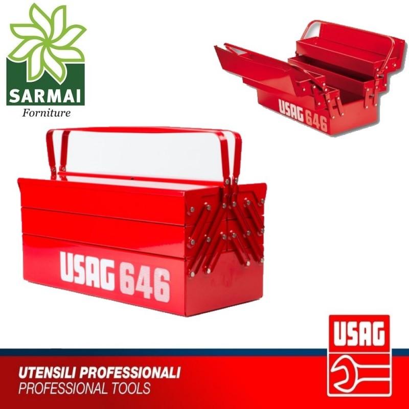 Cassetta estensibile lunga USAG 646 5LV portautensili in acciaio per attrezzi
