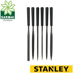 STANLEY 0-22-500 set 6 lime affilatura ad ago lima piatta mezzotonda triangolare