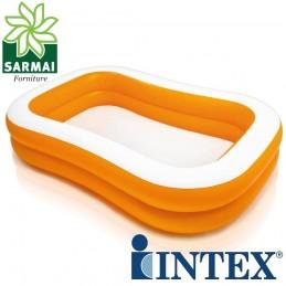 INTEX 57181 PISCINA FUORI TERRA GONFIABILE 229x147 H46 cm BAMBINI +6 anni