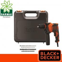 BLACK+DECKER BEH710K-QS Trapano a Percussione 710 W reversibile con valigetta