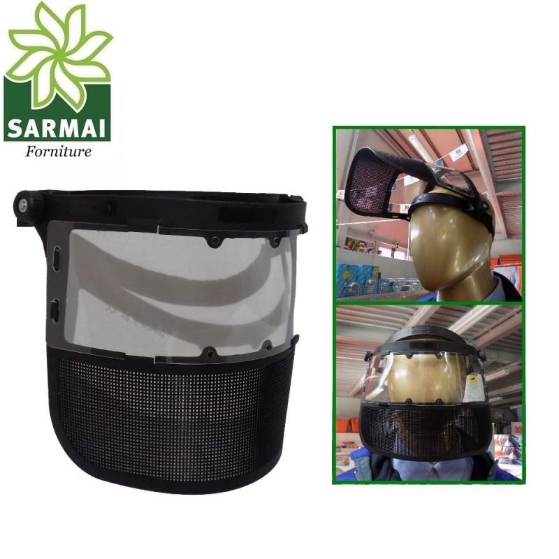 Maschera visiera protettiva decespugliatore taglia-erba protezione occhi viso