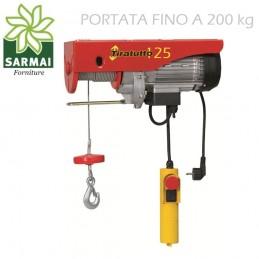 Tiratutto 125 Montacarichi elettrico portata 100/200 Kg Argano Montacarico