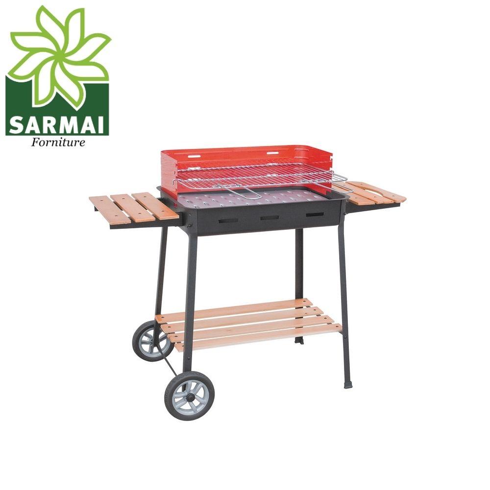 Barbecue Carbone Carbonella da giardino con Ruote Excelsior 860 63x43xH88 cm