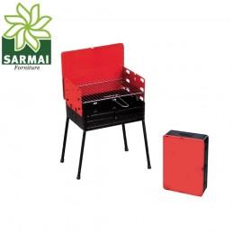 Barbecue bbq a carbone carbonella portatile pic nic richiudibile a valigetta