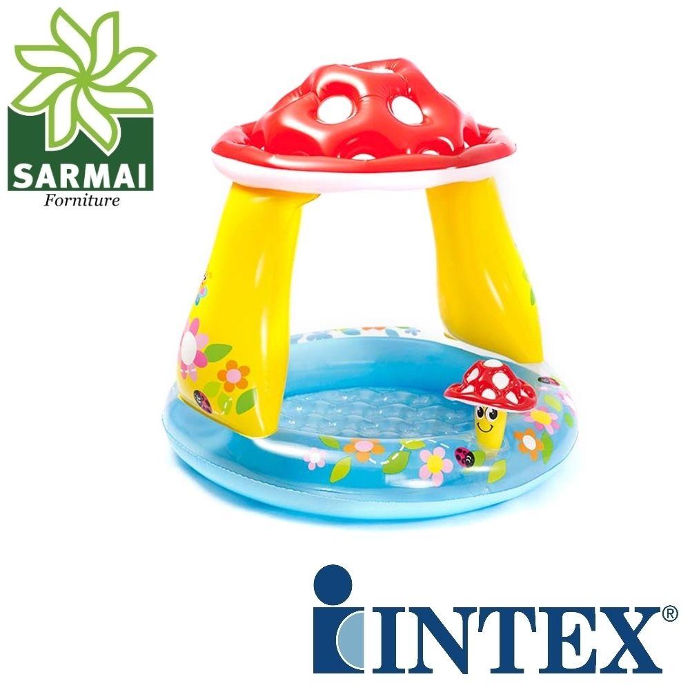 Intex Piscina baby fungo 102 cm gonfiabile gioco bambini neonati piscina mare