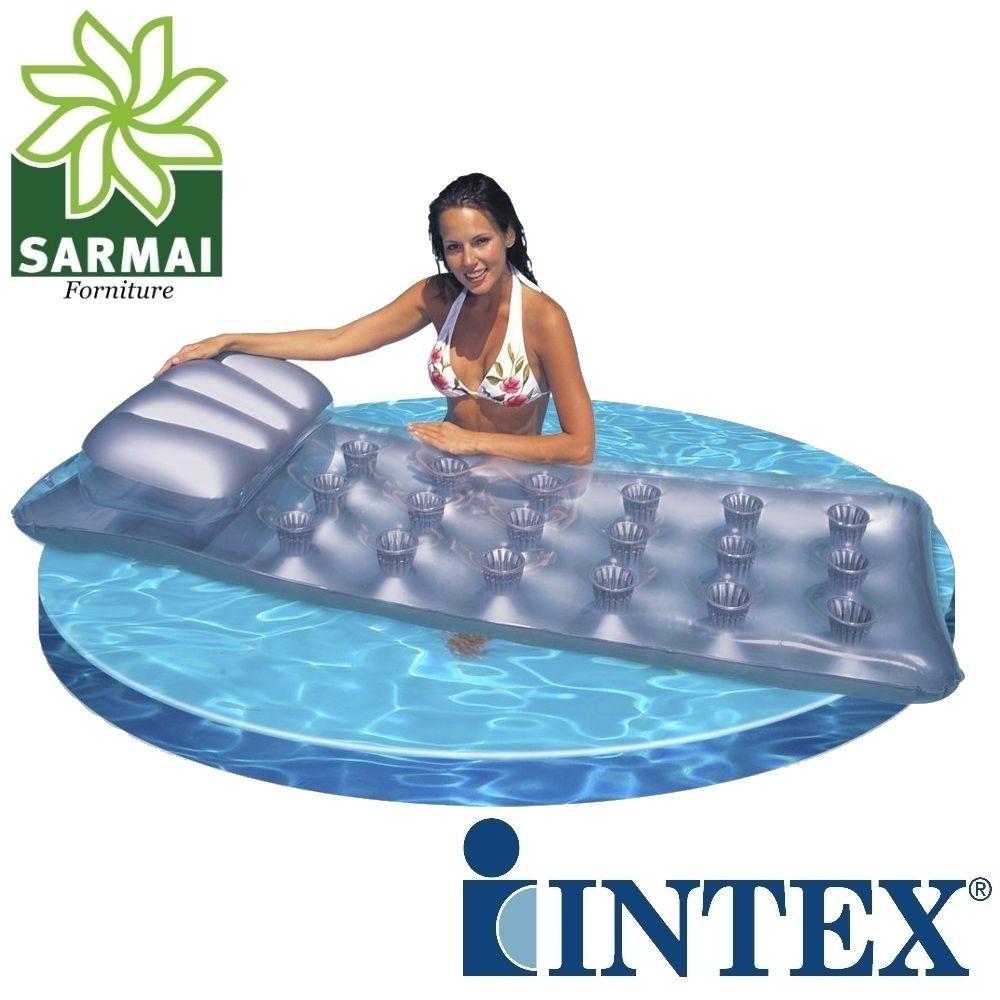 Intex Materasso materassino 18 buchi Pocket gonfiabile mare piscina