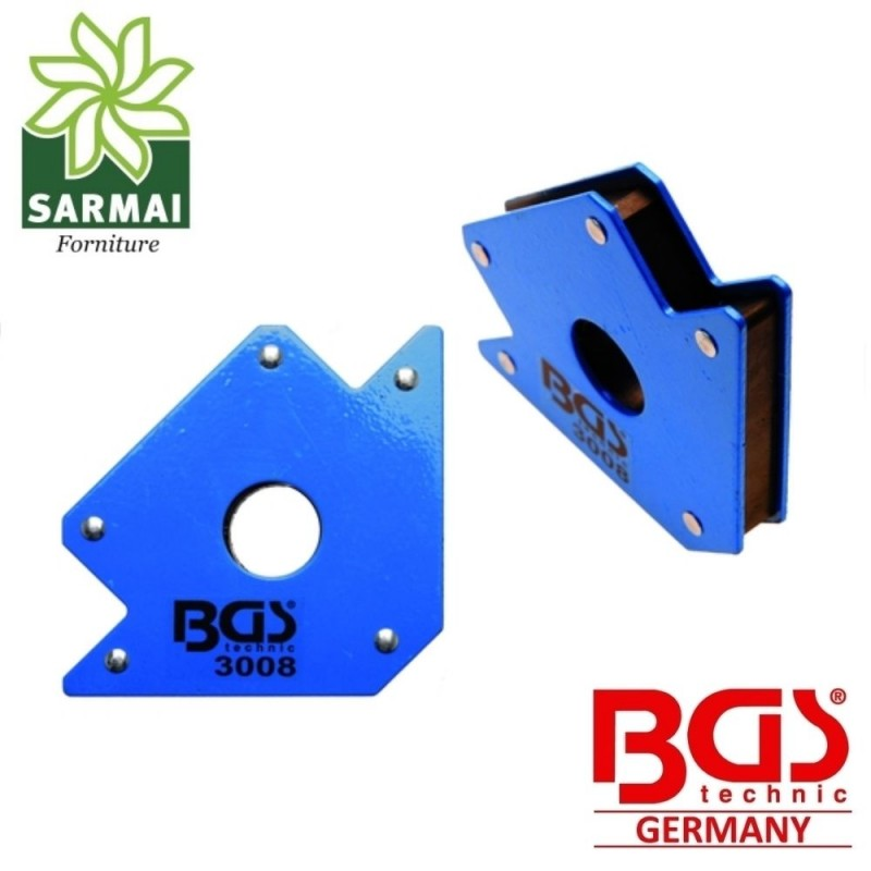 BGS 3008 Squadra Magnetica 20 Kg Supporto Magnetico Saldatura 45° 90° 135°