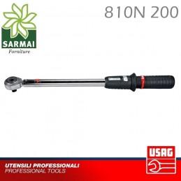 Chiave Dinamometrica cricchetto USAG 810N 200 40 - 200 Nm ATTACCO 1/2 Auto Moto