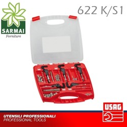 Usag 622 K/S1 Assortimento per Ripristino Filetto maschio per filetti inserti