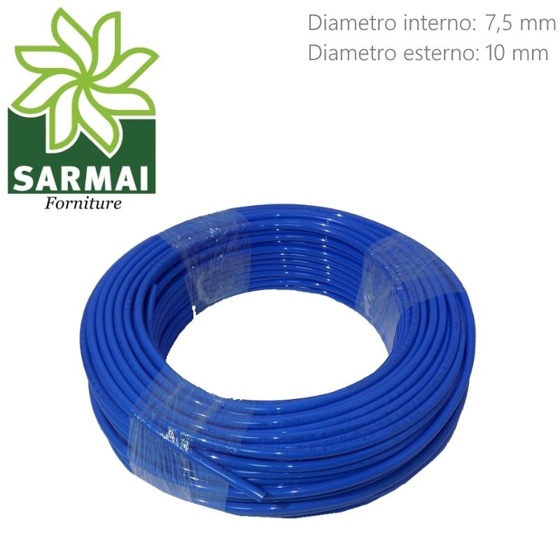Tubo Aria Compressa 7,5x10 mm in Poliuretano lineare flessibile 100 metri 10 Bar potatura raccolta olive