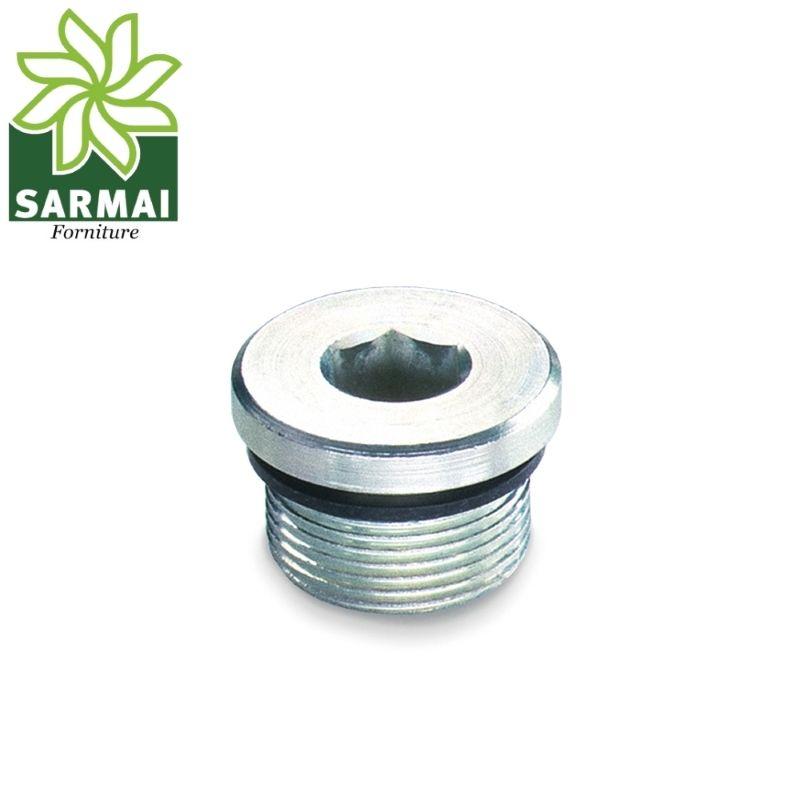 Tappo maschio TCEI cilindrico chiave esagonale aria acqua fluidi filettatura Gas