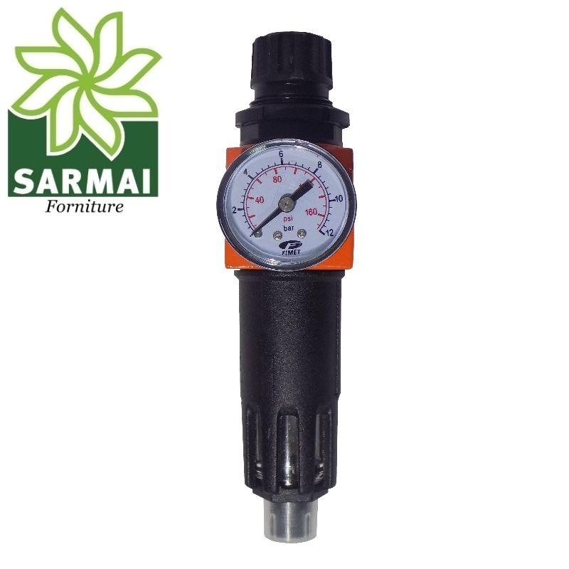 """Filtro e Riduttore Regolatore Pressione 1/2"""" Aria Compressa Utensili Pneumatici"""