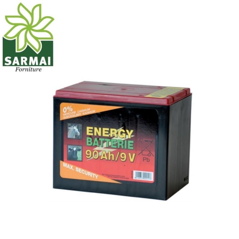 Batteria a secco 9V 90Ah per Recinto Recinzione Elettrica Pascolo Animali