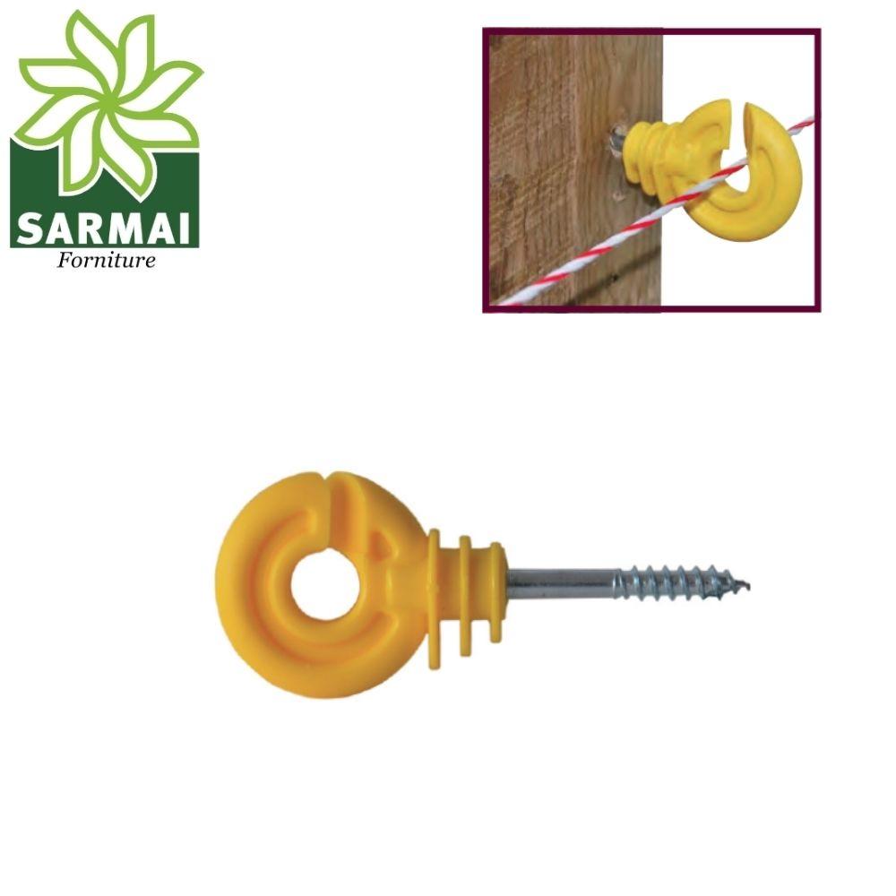 Isolatore Gancio Per fili Recinzione Recinto Elettrico vite per legno 25 - 50 PZ