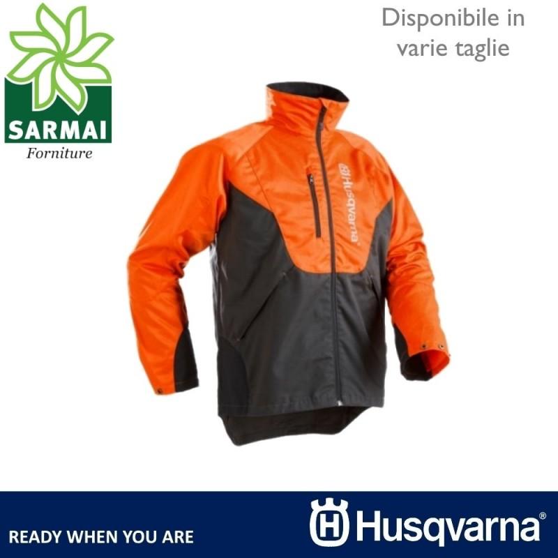 Giacca lavoro forestale Husqvarna Classic logo catarifrangente leggera comoda