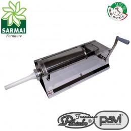 PAVI Insaccatrice manuale Palumbo 2 velocità 5 kg in Acciaio Inox per insaccati