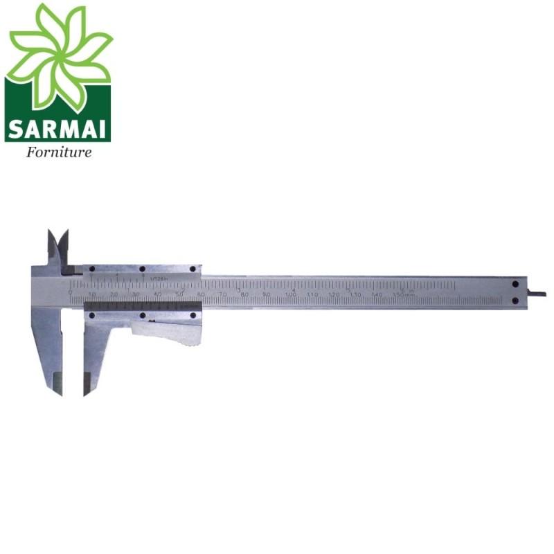 Calibro a corsoio con scala metrica e pollici 0,05 mm 1/128 inch ventesimale