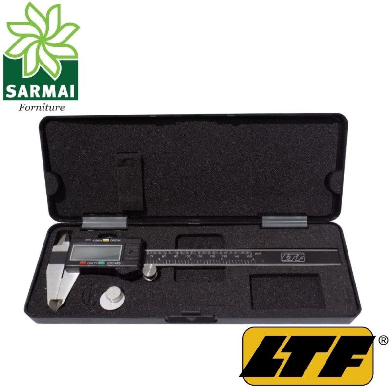 LTF calibro digitale 150 mm scala pollici e metrica regolazione micrometrica