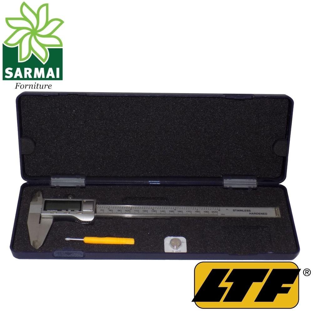 LTF calibro digitale 200 mm acciaio scala pollici e metrica precisione 0,2 mm