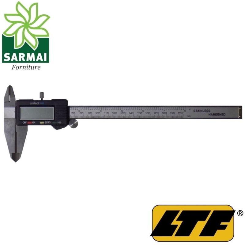 LTF OBERK calibro digitale 200 mm scala pollici metrica inserti in metallo duro