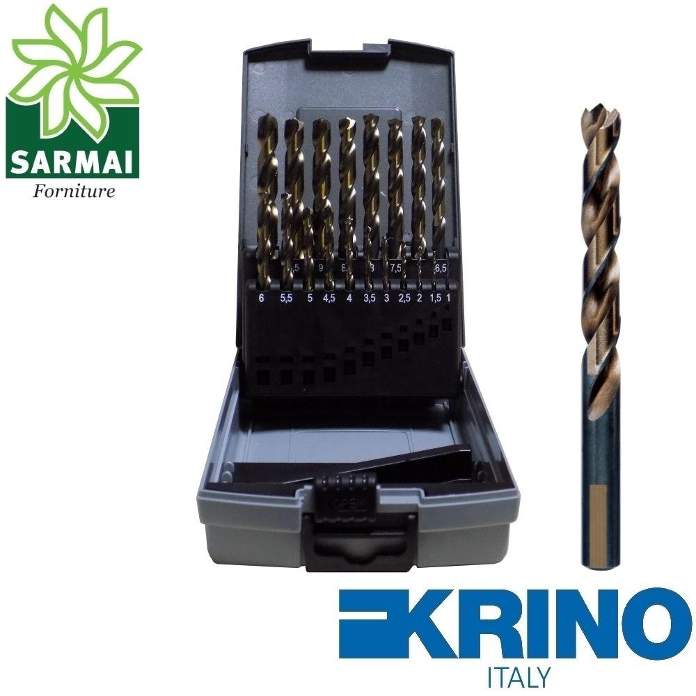 KRINO Serie assortimento 19 punte metallo ferro HSS-G Speedmaster rettificate