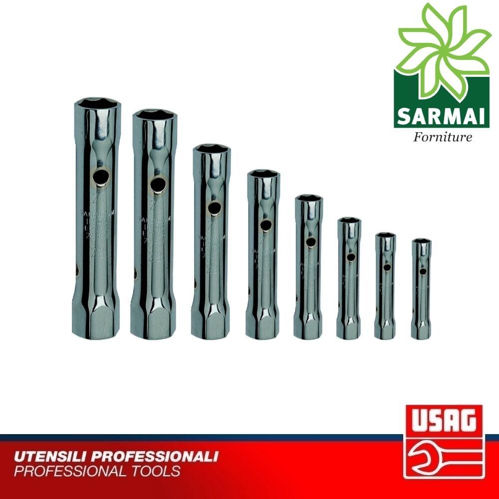 USAG 288 N/8 Serie Set 8 chiavi a tubo doppie leggere con leva