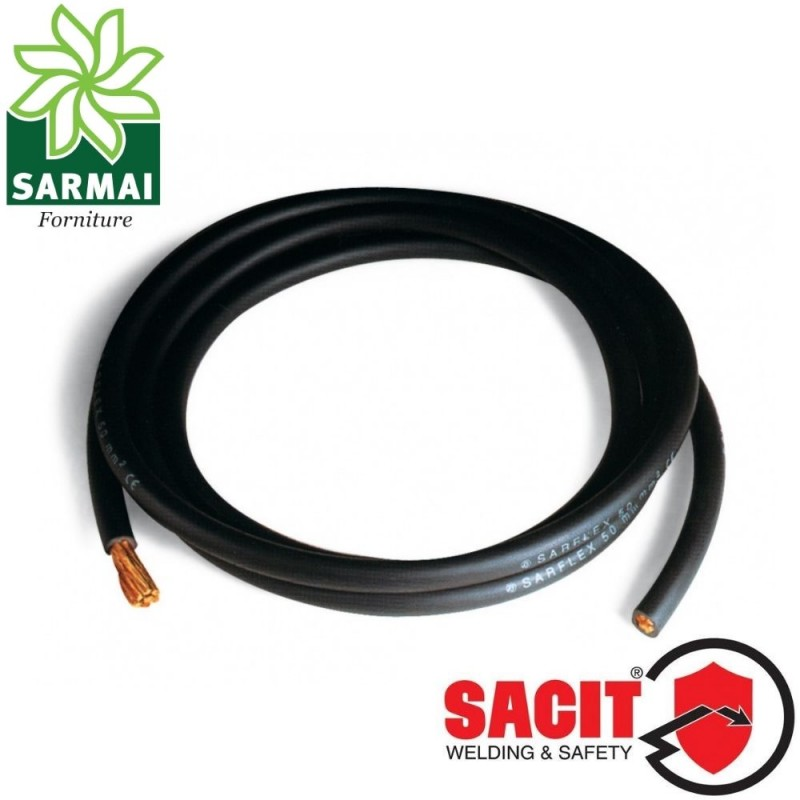 Cavo rame SACIT SARFLEX 16 mm² saldatrice saldatura PVC extra flessibile ØE 8 mm