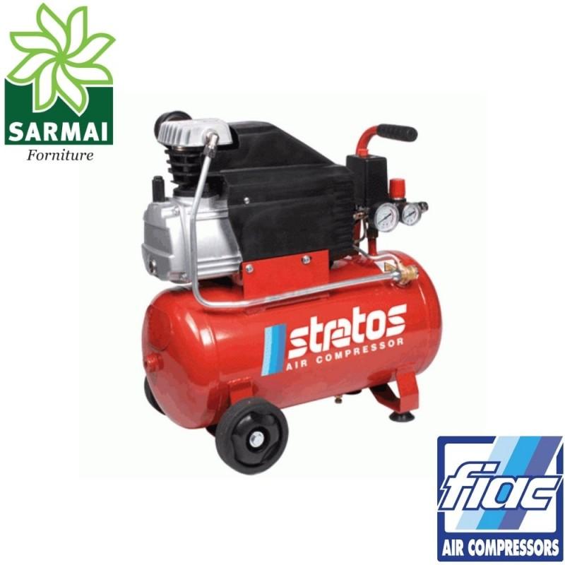 FIAC Stratos 24 compressore carrellato elettrico serbatoio 24 lt aria compressa