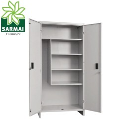 Armadio portascope in metallo 80x40 H179 cm Armadietto 2 ante e serratura