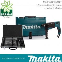 Makita HR2631FT12 SDS-PLUS TRAPANO TASSELLATORE 800W + punte e doppio mandrino