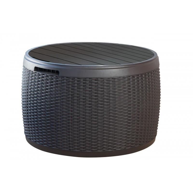 Keter circa rattan baule cassapanca tavolino per esterno e for Baule esterno