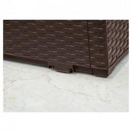 Keter Capri baule cassapanca per esterno e interno in resina effetto rattan 300L