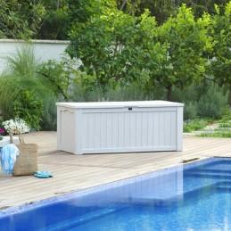Keter POOL BOX 570L baule cassapanca per esterno e interno effetto legno 155 cm