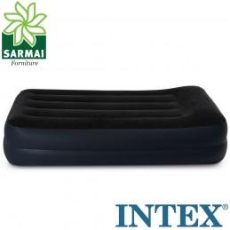 Intex 64122 Materasso letto singolo gonfiabile ospiti con pompa elettrica