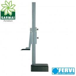 Truschino analogico in acciaio nonio cinquantesimale FERVI 0-300 0.02 mm calibro