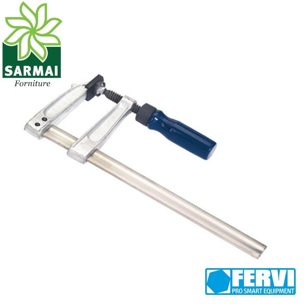 Morsetto regolabile a vita per falegname FERVI lunghezza 250 mm morsa per legno
