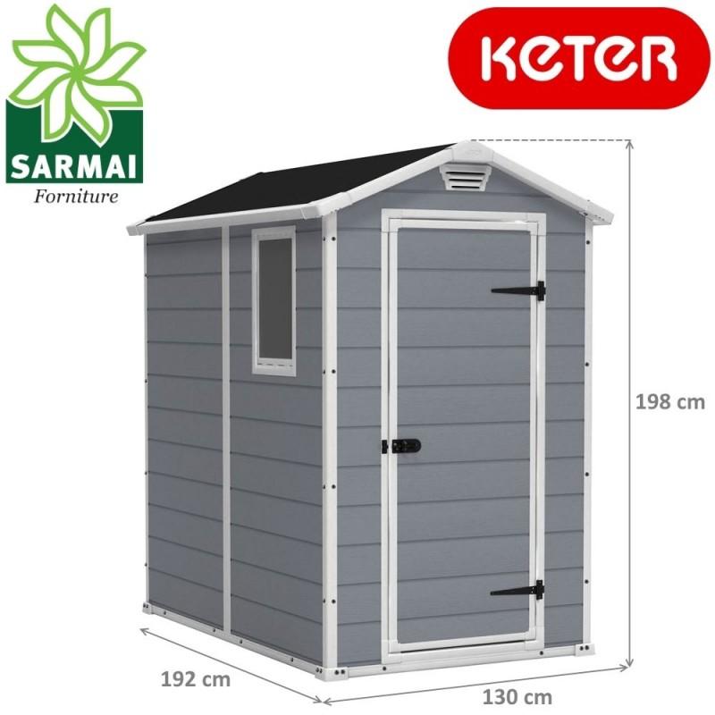 Keter manor casetta capanno box da giardino - Box da giardino ...