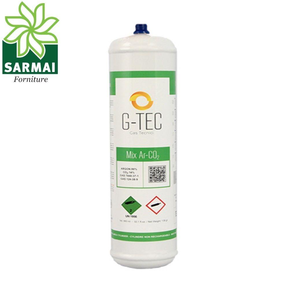 Bombola usa e getta monouso gas Miscela Mix Ar-CO2 per saldatura MIG MAG 0,950 L