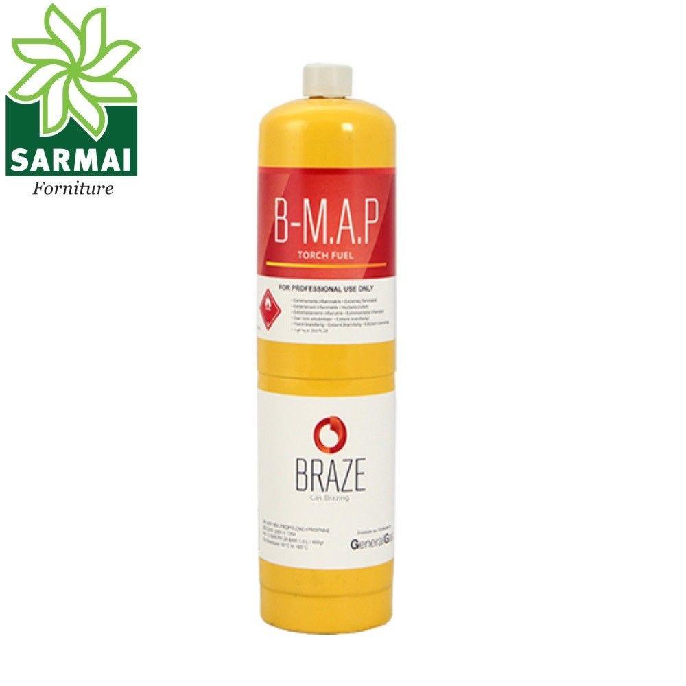 Bombola usa e getta monouso gas B-MAP per cannello brasatura dolce e forte 1 lt
