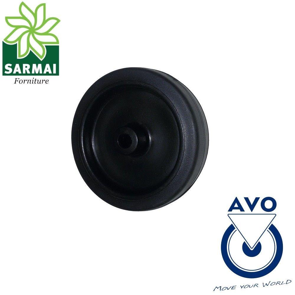 Ruota AVO 180S 80x23 rivestimento in gomma nucleo plastica per arredo mobili